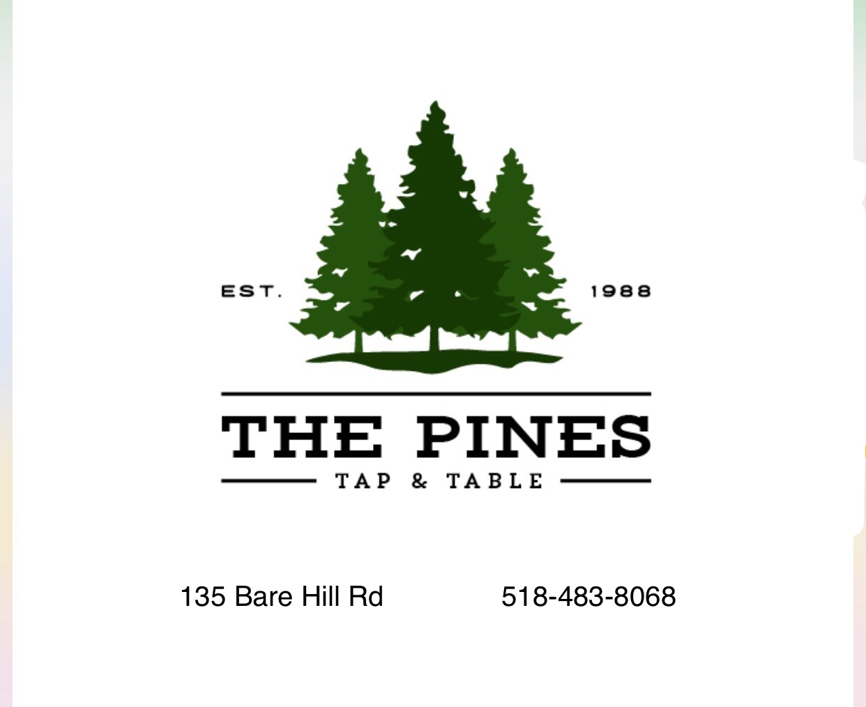 The Pines Tap and Table