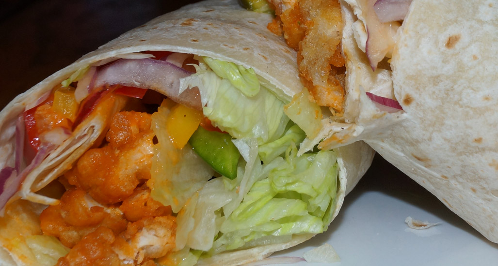 The Pines Tap and Table Chicken Wrap