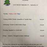 The Pines Tap and Table Lunch Specials - Sept 3-6, 2019